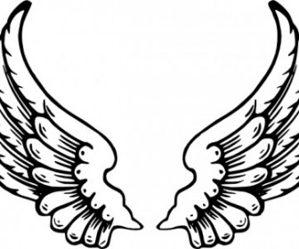 Vector Angel Wings Vector Clip Art