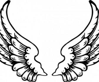 Vector Angel Wings Vector Clip Art