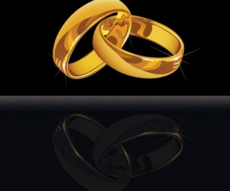 Vector 3 Wedding Ring Vector Art