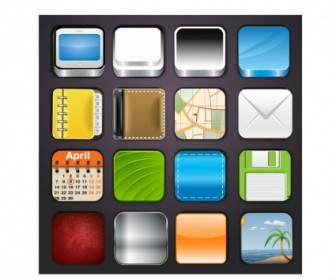 Vector App Icons Templates Icon Vector Graphics