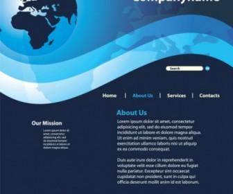 Vector Sense Of Technology Website Template 04 Web Design Vector Graphics