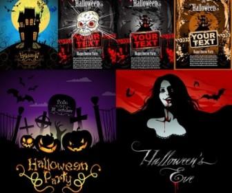 Vector Halloween Horror Poster Vector Art