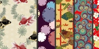 Vector Japanese Pattern Background Vector Art