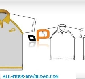 Vector Polo Shirt Template Vector Art