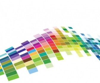Vector Colorful Mosaic Pattern Background Vector Art