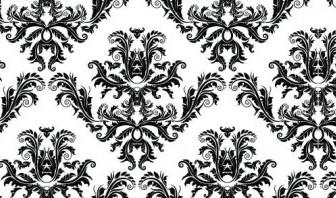 Vector Damask Seamless Pattern Vector Art
