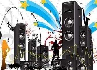 Vector FREE POP ART STYLE MUSIC VECTOR Vector Art
