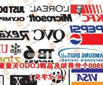 Vector 3900 Logo Worldrenowned Brands Under The Set Kz Prefix Vector Art