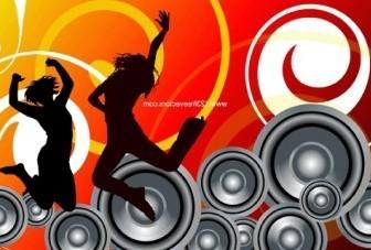 Vector Music Background Vector Art