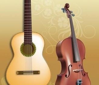 Vector Guitar And Violin Vector Art