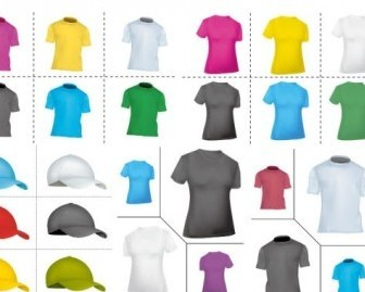 Vector Blank Tshirt Hat Vector Art