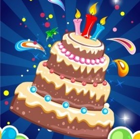 Vector Birthday Card Background Vector Art