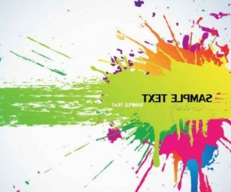 Vector Color Splash Background Vector Art