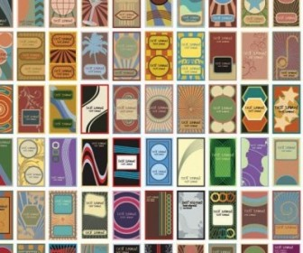 Vector 60 Retro Style Card Background Vector Art