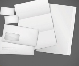 Vector Blank Cards Envelopes Stationery Vector Art