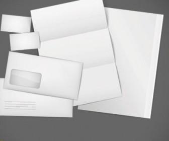 Vector Blank Cards Envelopes Stationery Vector Art