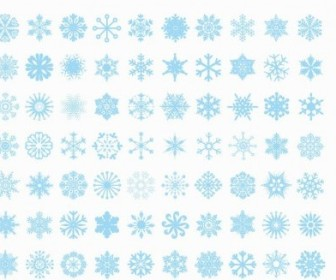 Vector Big Set Of Snowflakes Vector Art