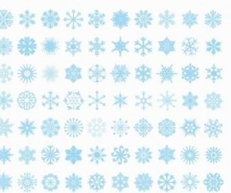 Vector Big Set Of Snowflakes Vector Art
