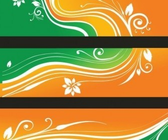 Vector Flower Banners Illustration Vector Banner