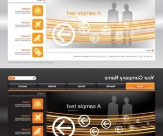 Vector Sophisticated And Practical Site Template 03 Web Design Vector Graphics
