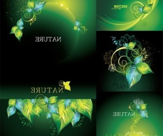 Vector Dynamic Green Background Vector Art
