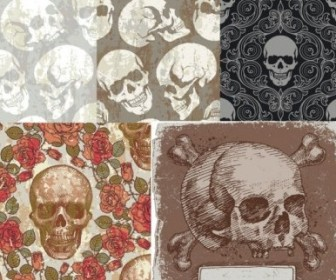 Vector Skull Theme Background Vector Art