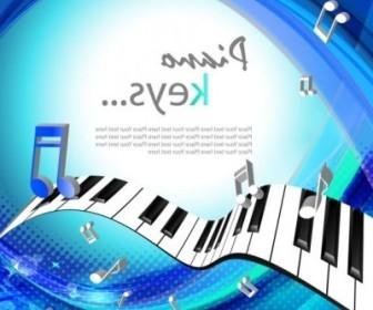 Vector Beautiful Piano Keys 01 Background Vector Art