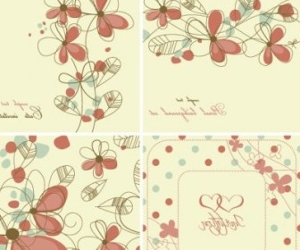Vector Elegant Floral Pattern 04 Background Vector Art