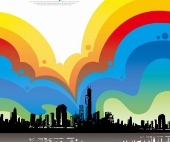 Vector Colorful City Illustration Background Vector Art