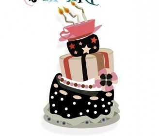 Vector Crazy Birthday Cake Vector Art