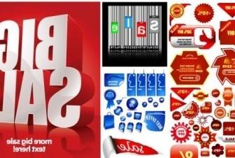 Vector Discount Sales Posters Icon Vector Graphics