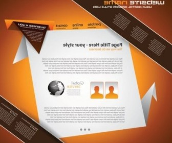 Vector Origami Website 02 Web Design Vector Graphics
