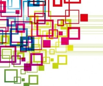 Vector Colorful Squares Backgound Vector Art