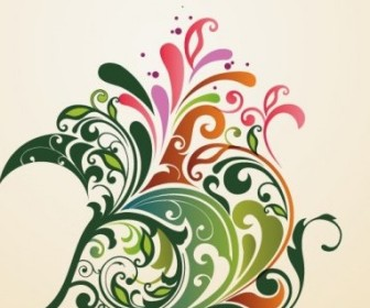 Vector Design Floral Ornament Background Graphic Abstract Vector Graphics