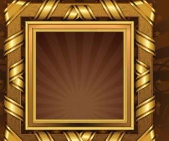 Vector Antique Gold Frame 01 Vector Art