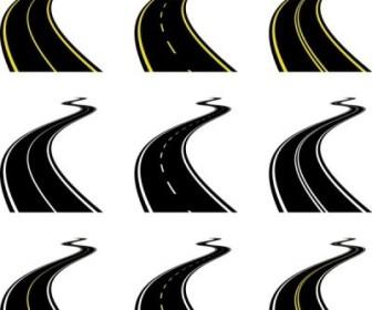 Vector Realistic Highway 03 Nature Vector Graphics