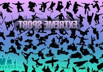 Vector Extreme Sport Silhouettes Vector Graphics