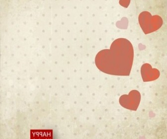 Vector Valentine39s Day Card 02 Background Vector Art