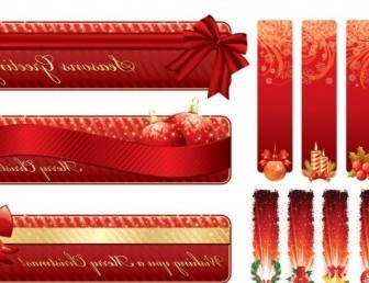 Vector Christmas Decorative Vector Banner