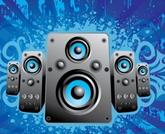 Vector Music Speakers Vector Art