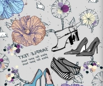 Vector Shoes Fashion Illustrator 01 Vector Art
