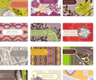 Vector Elegant Pattern Business Card Background 02 Flower Vector Art