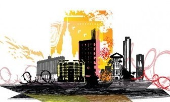 Vector City Silhouette 02 Silhouettes Vector Graphics