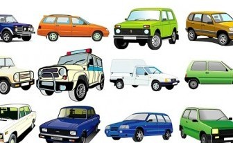 Vector Beautiful Variety Of Cars 2 Car Vector Art