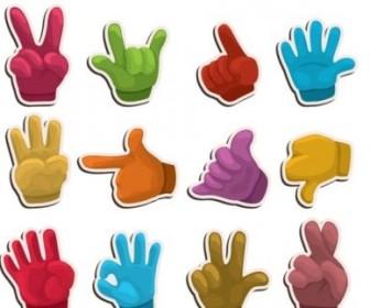Vector Handtype Labels 01 Vector Art