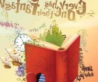 Vector Fantasy Book Vector Art