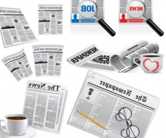 Vector Newspapers Vector Art
