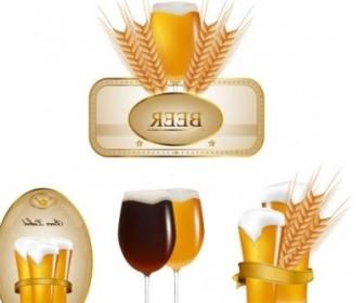 Vector Beer Labels 02 Vector Art