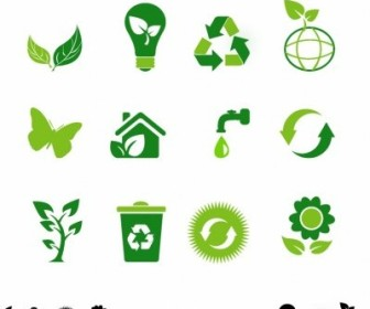 Vector Eco Icons Vector Art