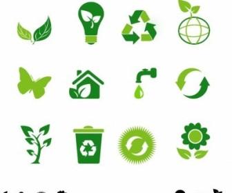 Vector Eco Icons Vector Art